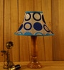 Blue Poly Silk Table Lamp by Woody Lamp House