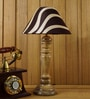 Brown Poly Cotton Table Lamp by Woody Lamp House