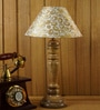 Gold Poly Cotton Table Lamp by Woody Lamp House