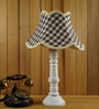 Woody Lamp House Grey Jute Table Lamp