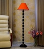 Woody Lamp House Orange Poly Cotton Floor Lamp
