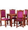 Worrall Four Seater Dining Set in Honey Oak Finish by Amberville