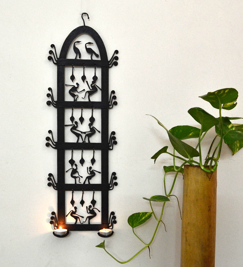Wrought Iron 8 x 2 x 25 Inch Wall Hanging by Chinhhari Arts