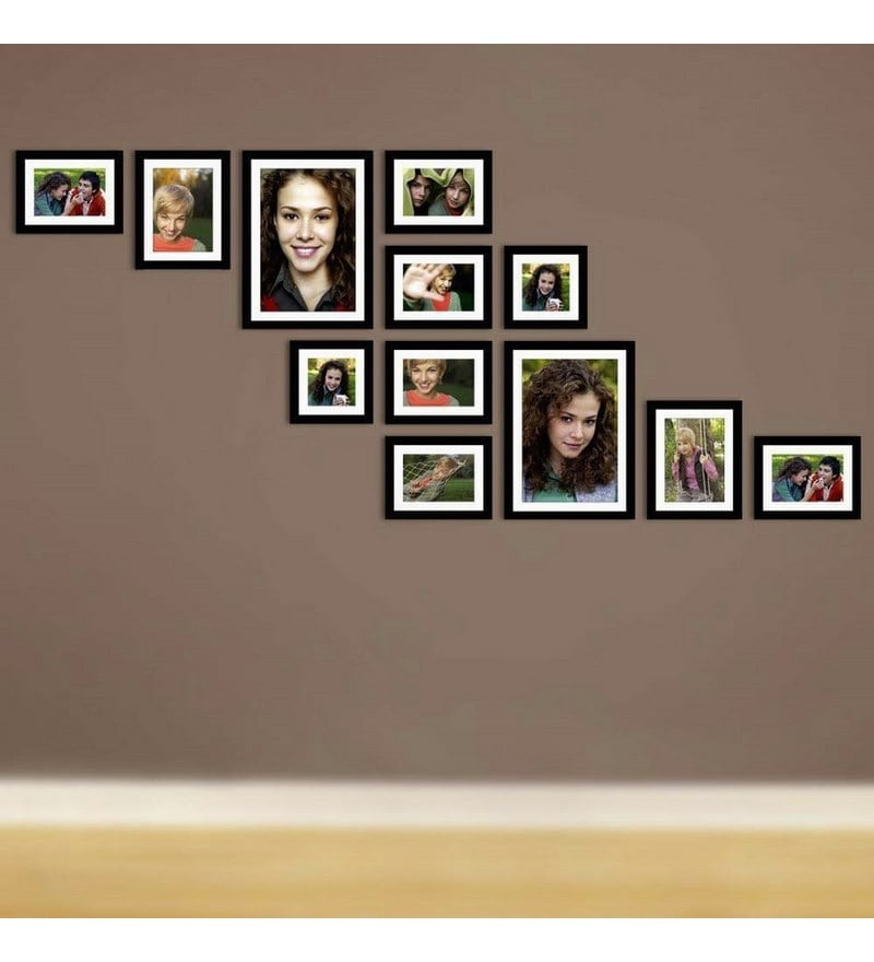 Buy Snap Galaxy Wall Gallery Black Synthetic Wood Collage Photo ...