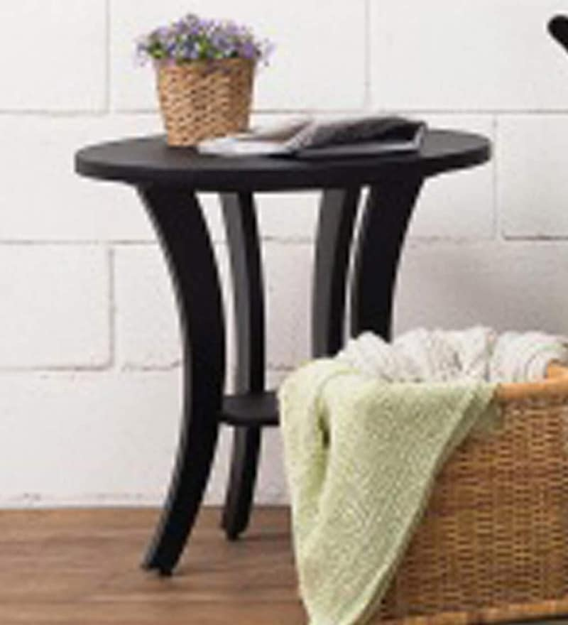 Xeno Round Coffee Table in Black Colour by nuhoom