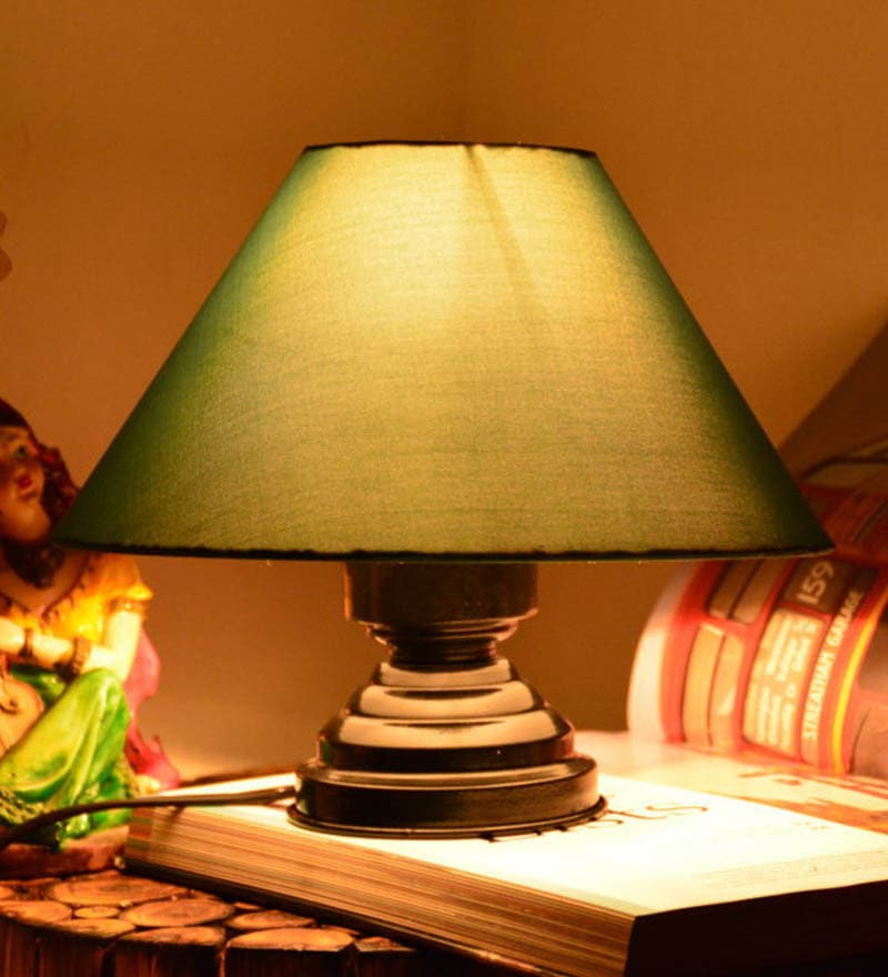 Green Table lamp by Yashasvi
