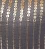 Yamini Charcoal & Gold Cotton 12 x 12 Inch Sequins Embroidered Cushion Cover