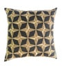 Yamini Charcoal Cotton 16 x 16 Inch Diamond Embroidered Cushion Cover