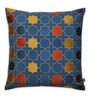 Yamini Multicolour Cotton 16 x 16 Inch Starbust Embroidered Geometric Cushion Cover