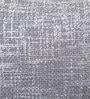 Yamini Silver Cotton 16 x 16 Inch Fancy Yarn Cushion with Foil Print Cushion Cover