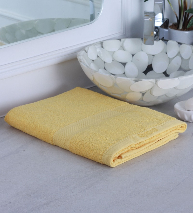 Yellow 100% Cotton Bath Towel by Raymond Home