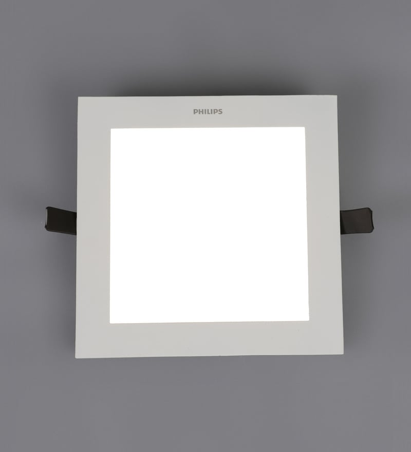 Yellow Aluminum Ultra Slim Plus 15 W Recessed Ceiling Light by Philips