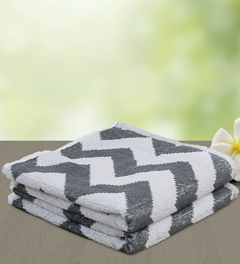 Grey 100% Cotton 25 x 50 Bath Towel by Yellow Spun