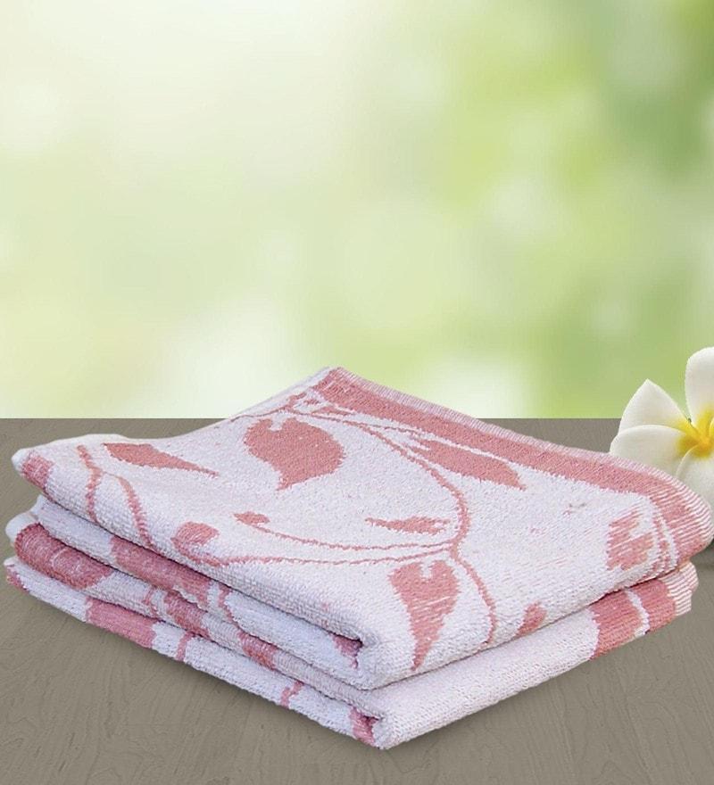 Pink 100% Cotton 27 x 48 Bath Towel by Yellow Spun