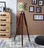 Yellow & Green Cotton Tripod Floor Lamp by Ethnic Roots