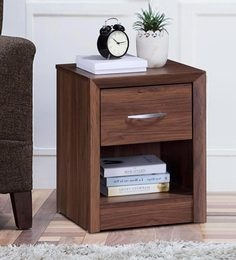 Yuko Bed Side Table In Columbia Walnut Finish ...