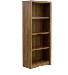 Yuko Four Tier Book Shelf In Columbia Walnut Finish By Mintwud