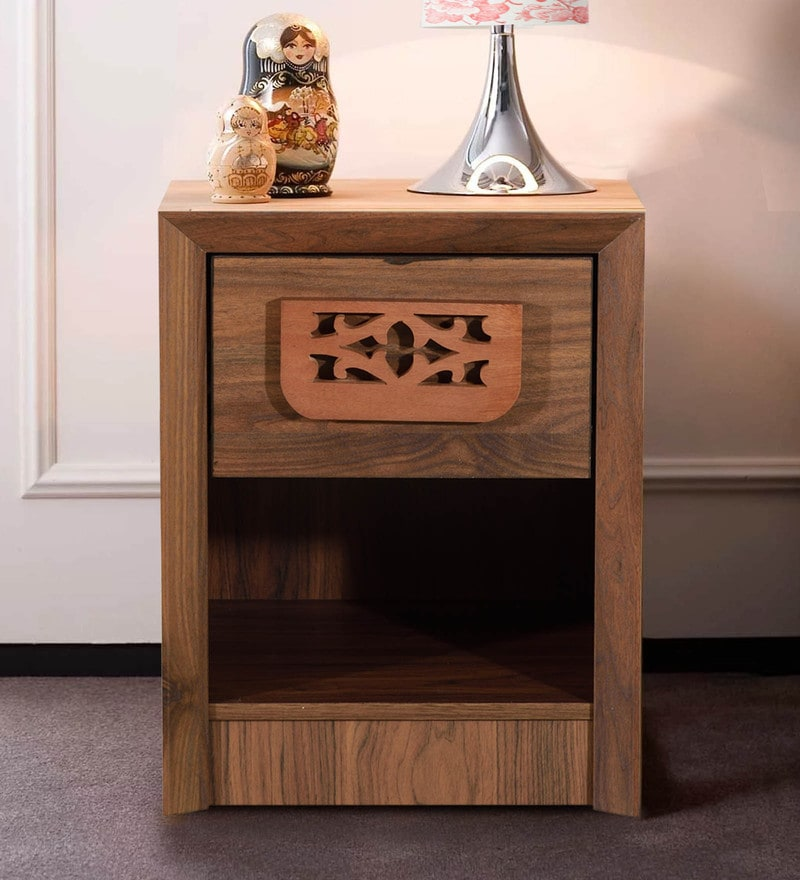 Yukashi Bedside Table in Columbia Walnut Finish by Mintwud