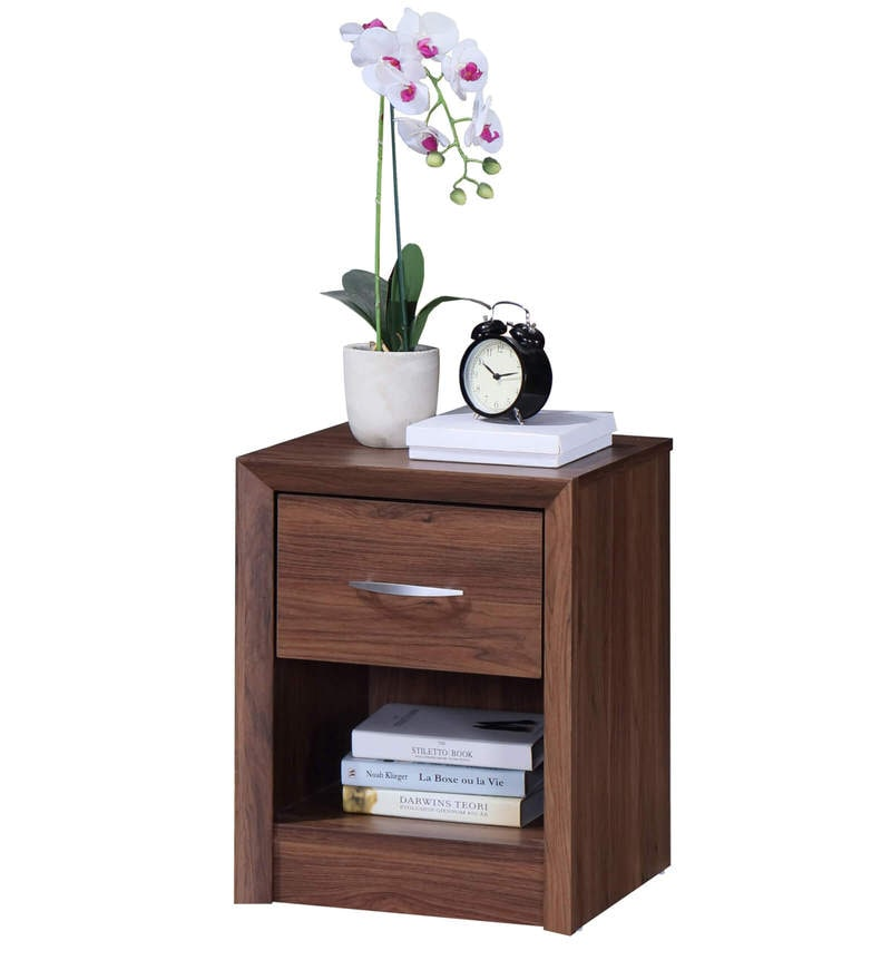 Yuko Bed Side Table in Columbia Walnut Finish by Mintwud