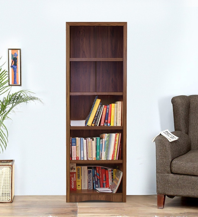 Yuko Five Tier Book Shelf in Columbia Walnut Finish by Mintwud