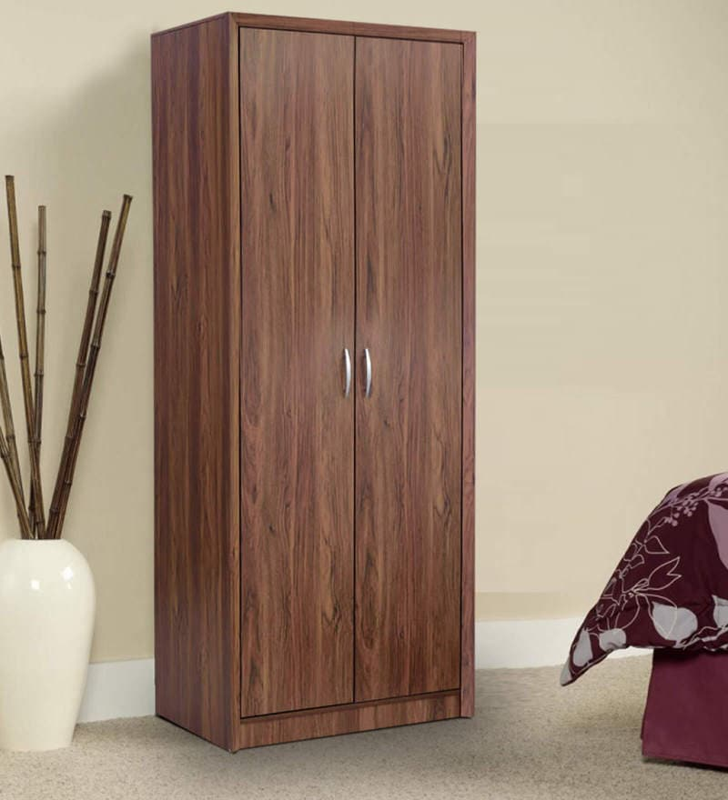 Yuko Two Door Wardrobe in Columbia Walnut Finish by Mintwud