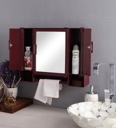 zahab pulse three door plastic cabinet cherry