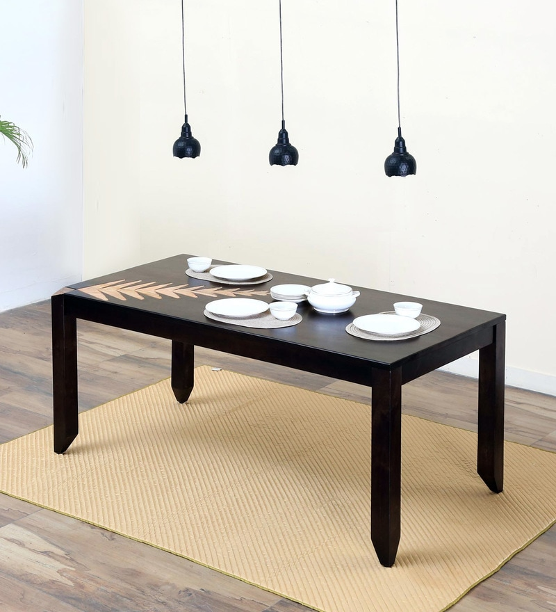 Zabel Eight Seater Dining Table in Dual Tone Finish by Woodsworth