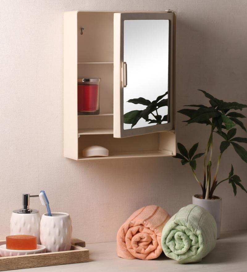 Zahab Hifi Single Door Plastic Cabinet With Shelf