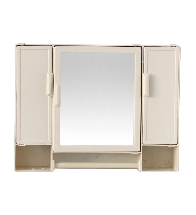 Buy Zahab Pulse Three Door Plastic Cabinet Cream Online Bathroom