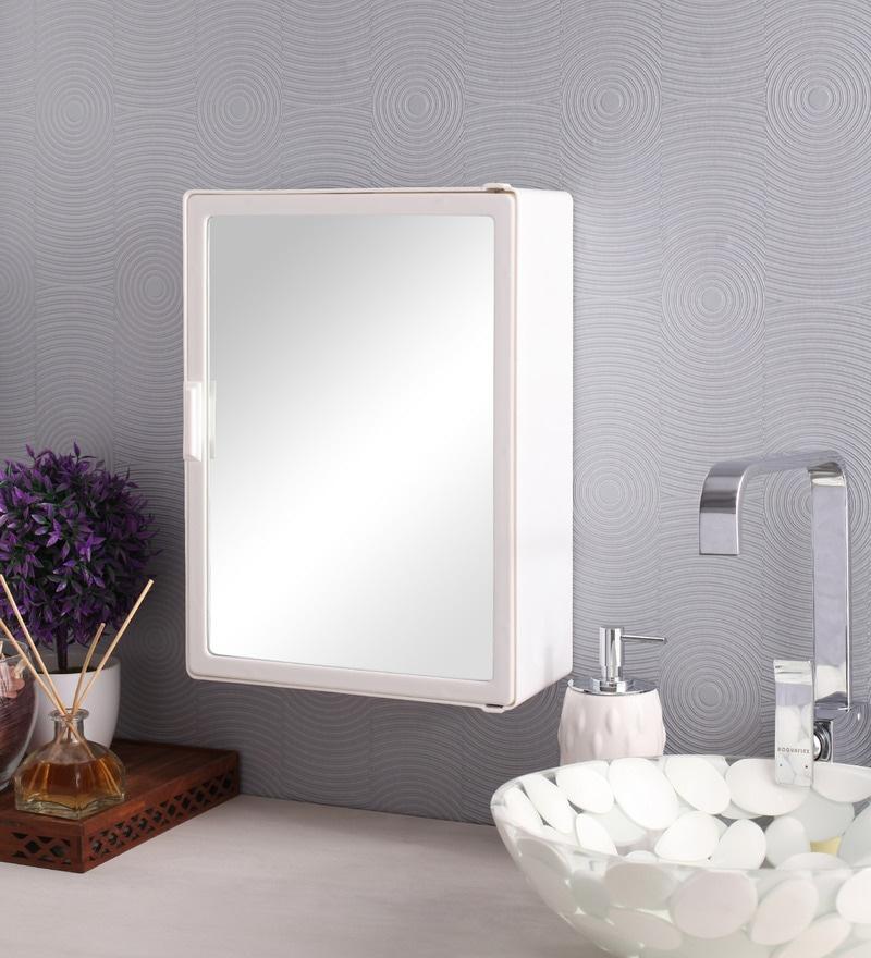 Zahab Sonata Two Door Plastic Cabinet- White