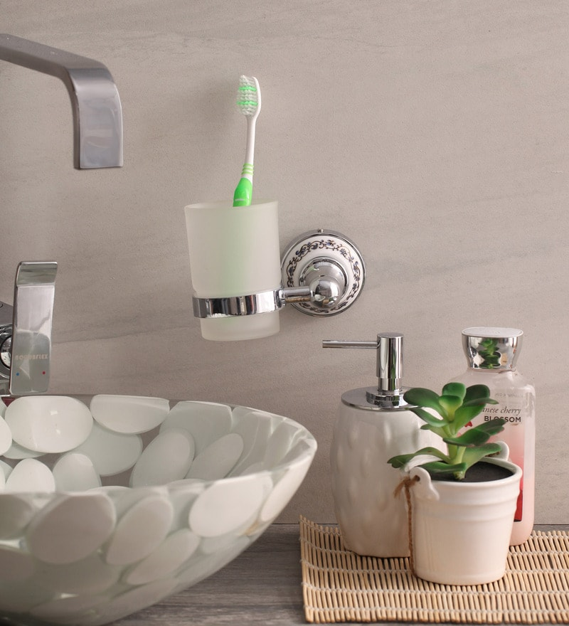 Zahab Zinc Toothbrush Holder