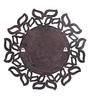 Brown MDF Palm Leaf Wall Mounted Decorative Mirror by Zahab