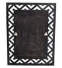 Brown MDF Zigzag Wall Mounted Decorative Mirror by Zahab