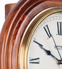 Brown Wooden 12 x 2 x 12 Inch Antique Roman Wall Clock by Zahab