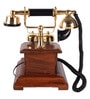 Brown Wooden Antique Maharaja Chicago Telephone by Zahab