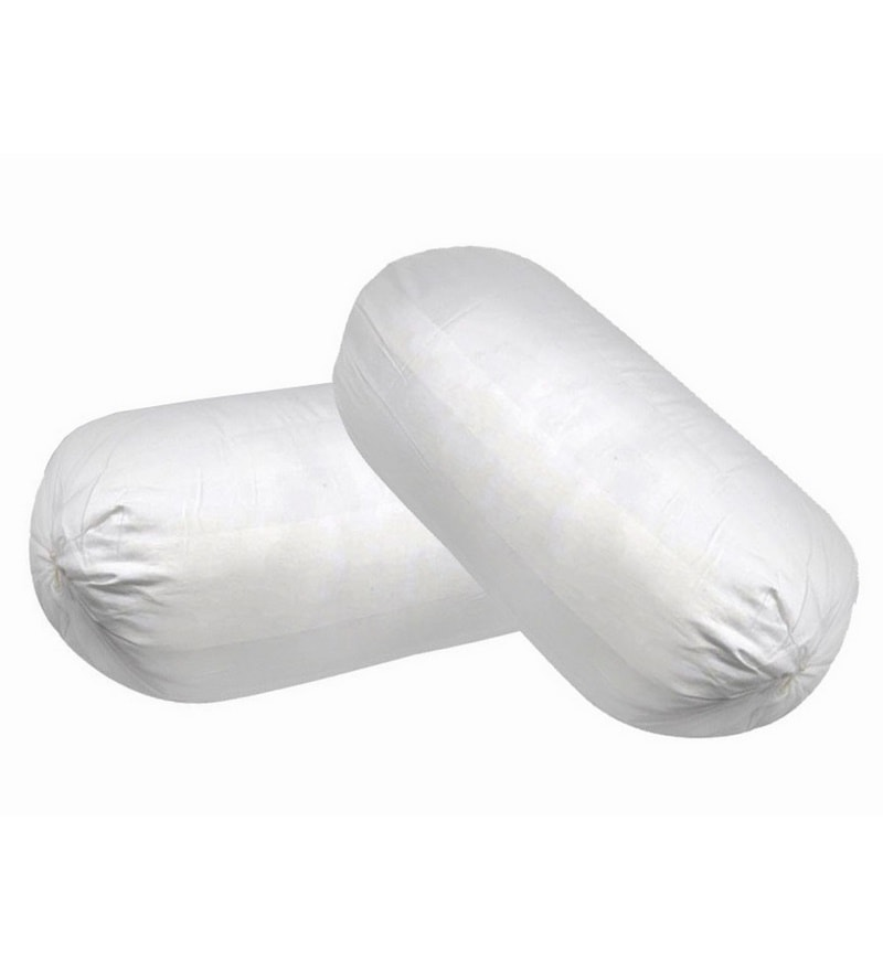 Buy White Memory Foam 24 x 8 Inch Round Support Bolster