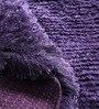 Mauve Polyester Shaggy Area Rug by Zila Home