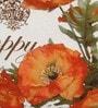 Zila Home Multicolour Cotton 16 x 16 Inch Poppy Flower Cushion Cover