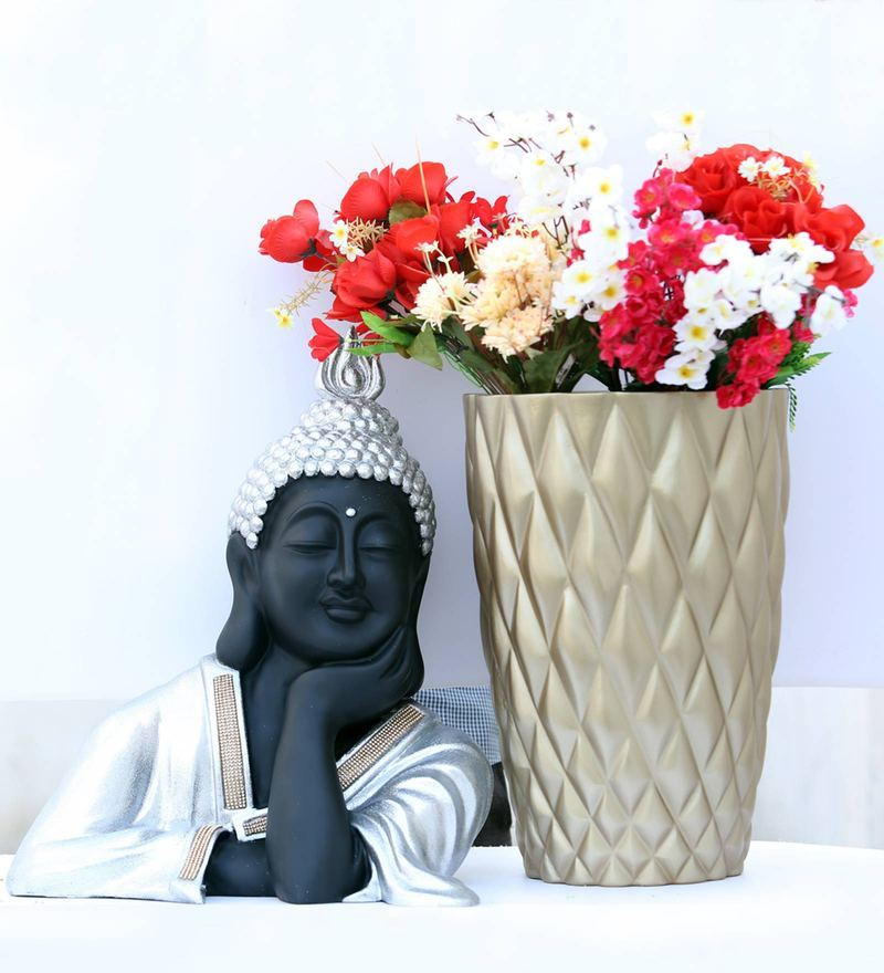 Zoe Crafts Outdoor Buddha with Planter (Set of 2)
