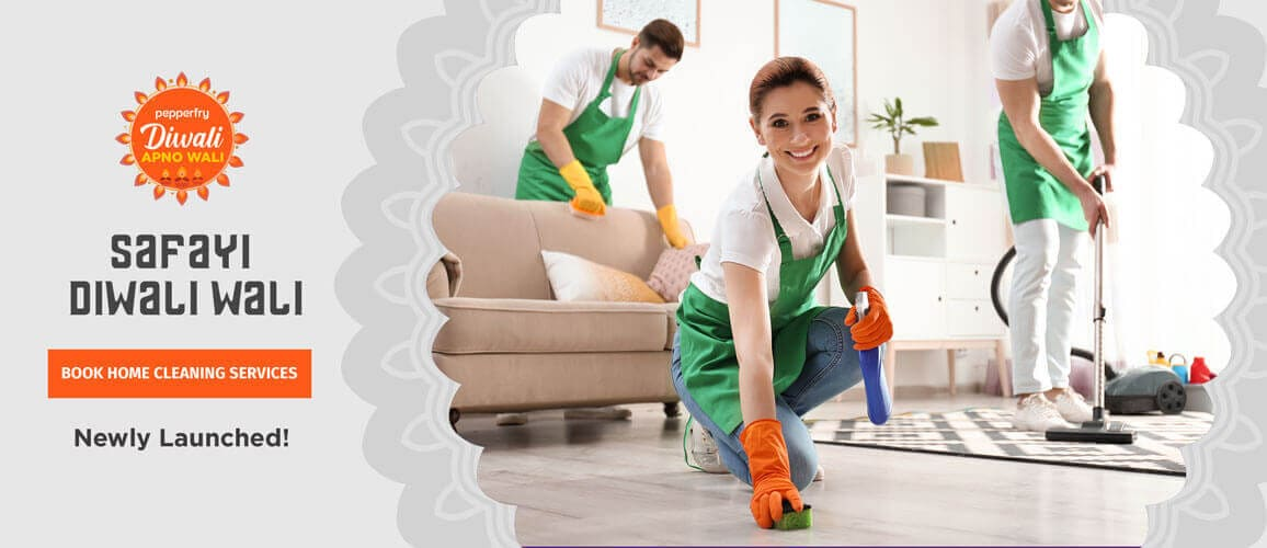 pepperfry.com - Extra Up to ₹4200 Cash back on Home Cleaning Service