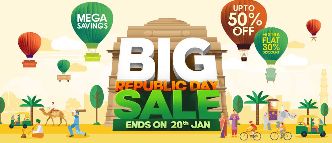 Pepperfry Big Republic Day Sale! Get Upto 50% Off + Extra 30% Cashback